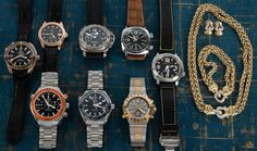 """Today we have posted four Omega watches including a """"First Co-Axial"""" in rose gold, a pair of Panerai, a unique Bulgari Scuba, an Anonimo Diver, and three pieces of jewelry by David Yurman. Popular Watches, Mechanical Watch, Whats New, David Yurman, Omega Watch, Rose Gold, Unique, Accessories, Jewelry"""