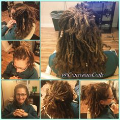 Style: Microlock Retight and Maintenance (interlocks) Client's Hair Type: 2c/3a  Hair Added: NA  Products Used: Coiled! by Conscious Coils (Original Refresher Spray)  Time: 2hrs 37mins  Style Duration: retight every 6weeks