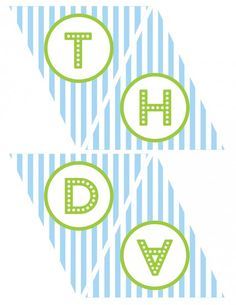 free printables boy birthday happy birthday banner blue green