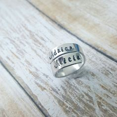 Wrap ring love 😍 custom name wrap ring by DreamWillowStudio on Etsy