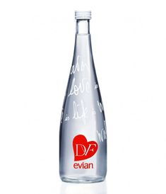 Evian x Diane Von Furstenberg. I also have Evian glass bottles designed by Christian LaCroix and John Paul Gaultier. Sexy water, indeed.