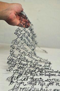 Words - 3d pen?