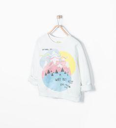 Image 1 of Mountain print sweatshirt from Zara