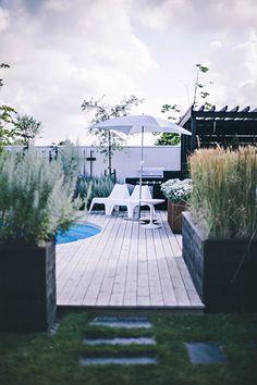 Trädgård pool inspiration trädäck