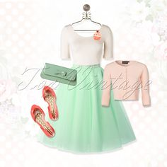 Sweet, adorable and pretty this is how you feel in this gorgeous retro look!