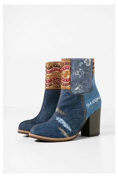 Image result for desigual floral ankle boots