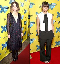 Rose Byrne (at the Spy screening) and Rashida Jones (at the Angie Tribeca premiere) both donned black looks for the red carpet at the SXSW festival on March 15.