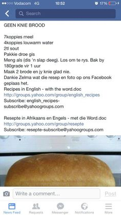 Bread Recipes, Yummy Recipes, Recipies, Baby Cardigan Knitting Pattern, South African Recipes, Holiday Activities, How To Make Bread, Cake Cookies, Kos