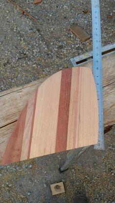 Wood surfboard fin