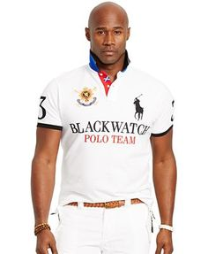 8d0336a007 Polo Ralph Lauren Big and Tall Black Watch Classic-Fit Polo Shirt Masculin