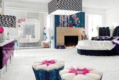 cool bedrooms | nice red bedrooms for teenage girls green yellow teens girls bedrooms ...