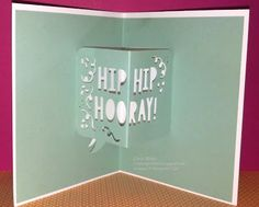 Crafting On Hat: Happy New Year! Party with Cake, Party Pop-Up Thinlits Dies, Stampin' Up!