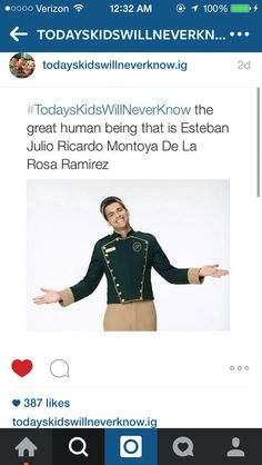 yes Esteban! @todayskidswillneverknow.ig