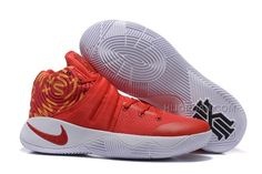 huge selection of df5c8 425f1 Nike Kyrie 2 Red White Basketball Shoes, Price   95.00 - Air Jordan Shoes,  Michael Jordan Shoes