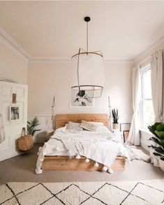 Will illuminate pendant light replica - Schlafzimmer Room Design Bedroom, Room Ideas Bedroom, Home Decor Bedroom, Room Decor Boho, Boho Teen Bedroom, Long Bedroom Ideas, Bright Bedroom Ideas, Bedroom Ideas For Small Rooms Cozy, Simple Rooms