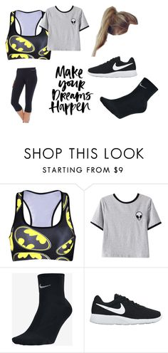 """""""run you clever girl and remember me"""" by zoeyfrederick on Polyvore featuring Chicnova Fashion, NIKE and Running Bare"""