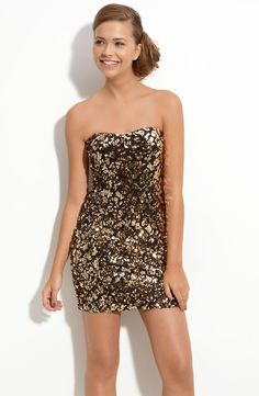http://www.lyst.com/clothing/as-u-wish-goldblack-secret-charm-pattern-sequin-dress-juniors-1/?product_gallery=2795211