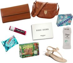 Sorority recruitment essentials.... Snacks.  Deodorant.  Chapstick.  Mints.  Oil blotting sheets.  A small clutch or purse.
