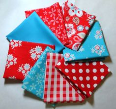 Twice As Nice Fabric Bundle Eight Fat Quarters by 44thStreetFabric, $17.98