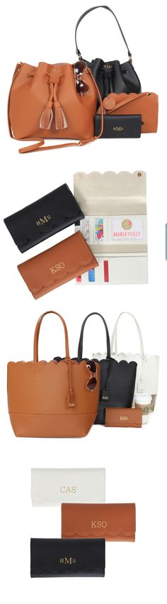 Genuine Leather Collection by Marleylilly #monogrammed