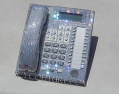 Crystal Gold Bling Telephone with Swarovski Crystals by IcyCouture