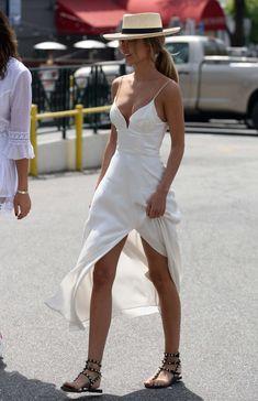 Kimberley Garner in White Dress -02