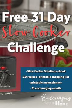 Are you ready for easier dinners? Join our 31 Day slow cooker challenge and get…
