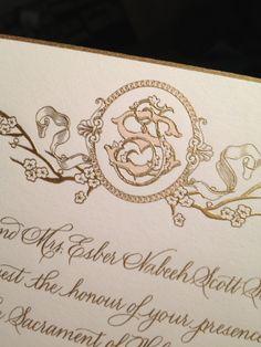 Bell'INVITO Couture Monogram   #BellBridal
