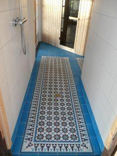 Cementtiles bathroom - Azule 01 Maroc - Egal Azule S34- Project van Designtegels.nl