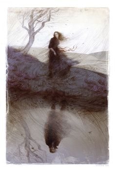 "Rovina Cai: ""'Wuthering Heights' A series of interior illustrations and a binding design for The Folio Society's edition of 'Wuthering Heights' by Emily Brontë Prints available here."""