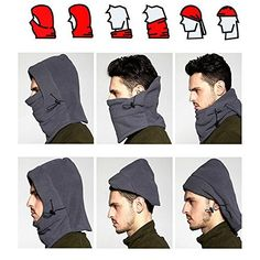 Shape Winter Multi-Functional Heated Hood Outdoor Windproof Warm Hat And Mask USB Charging Electric Heating Hood Cold-Resistant Thickening Heating cap