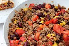 Mexikanische Wraps mit Füllung à la Chili con Carne           #selfmadewraps