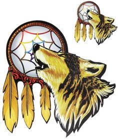 Howling wolf with Dreamcatcher Sticker Ivamis Trading http://smile.amazon.com/dp/B00FJFIFCQ/ref=cm_sw_r_pi_dp_6k4fub1RB0AYT