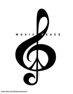 Love this music& sign  Would make a nice little tat maybe on a finger or behind the ear :)