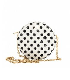 Dolce & Gabbana Glam Circle Bag in Black and White
