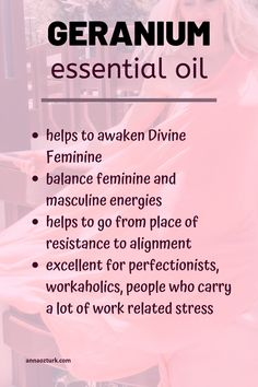 Awaken Divine Feminine with geranium essential oil, discover how it can help you with alignment, balancing feminine and masculine, emotional balancing and healing, chakra healing Divine Geranium Essential Oil, Essential Oil Uses, Doterra Essential Oils, Geranium Oil, Masculine Energy, Feminine Energy, Young Living Oils, Young Living Essential Oils, Work Related Stress