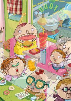 比利时插画师Franck Graetz作品.._来自gyn999的图片分享-堆糖网