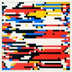 The Man-Machine: Hiroshi Kawano's Algorithmic Mondrian Gouache, The Man Machine, Art In The Age, Creative Zen, The Joy Of Painting, Computer Art, Computer Center, Piet Mondrian, Generative Art
