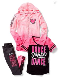Shop cute, on-the-go athletic outfits & sets for her in comfy & durable girls' sportswear styles that will keep her looking her best on the field or in gym class. Teenage Girl Outfits, Cute Girl Outfits, Sporty Outfits, Cute Outfits For Kids, Athletic Outfits, Dance Outfits, Tween Girls, Girls Sports Clothes, Girls Fashion Clothes
