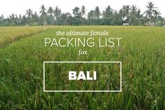 The Ultimate Bali Packing List for Females- Her Packing List