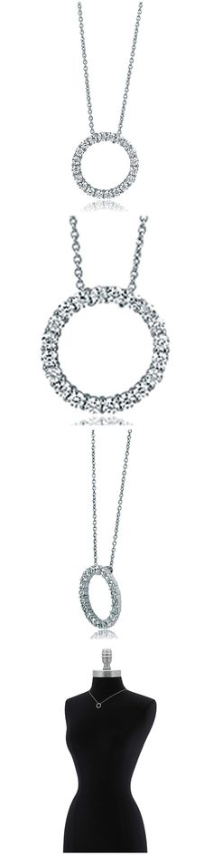 Sterling Silver CZ Open Circle Fashion Necklace