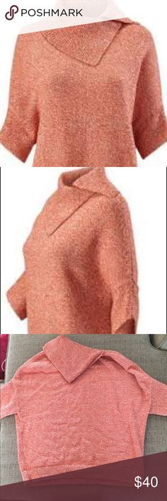 CAbi Foldover Pullover --EUC -- never worn but laundered once (laid flat to dry) -- in perfect, new condition! --Fall 2015 Collection  --Super soft and comfy --Style #3011 --Wear casually or dress it up! Can be belted as well.  --Great staple sweater for your year-round wardrobe! --Could fit a petite Medium as well --Originally $119 CAbi Sweaters Cowl & Turtlenecks