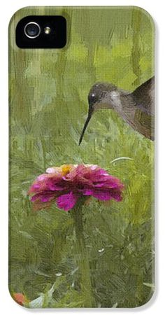 Hummingbird in Oil iPhone Case