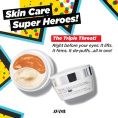 Anew Clinical Eye Lift Pro Dual Eye System- The Triple Threat of our skin care super heroes! The only two-in-one system for a complete eye lift and for anyone wishing to help treat or prevent the telltale signs of aging. Eye Lift Cream, Eye Cream, Dual System, Agent Of Change, Avon Online, Eye Treatment, Avon Representative, Medium, Clinic