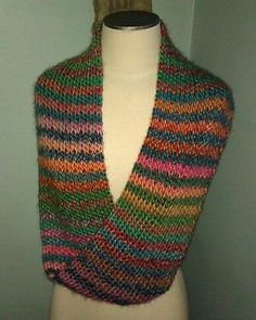 Mobius strip scarf. Remarkably, this is Red Heart Boutique line.    It's knit on a loom.