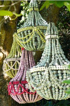 Hellooow Handmade Ceramic Bead chandeliers in sorbet colours! Hellooow Handmade Ceramic Bead chandeliers in sorbet colours! Wood Bead Chandelier, Chandeliers, Chandelier Tree, Diy Luminaire, Creation Couture, Ceramic Beads, Bohemian Decor, Boho, Decoration