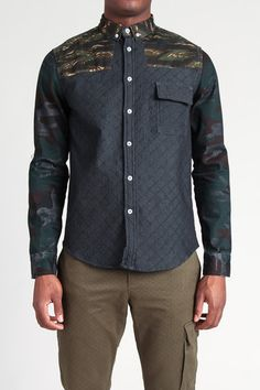 Quilted Jean Shirt - Oxford Lads. this is sick but expensive