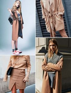 CAMEL INSPIRATION - Style magazine | Škola stylu BACKSTAGE Balmain, Valentino, Pretty Outfits, Pretty Clothes, Collage Vintage, Work Wear, Camel, What To Wear, Autumn Fashion