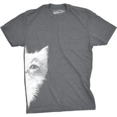 3449a151 Crazy Dog Funny T-Shirts - Mens Peek a Boo Kitty Funny Cat Face Crazy Cat  Lover Adorable Kitten T shirt - Walmart.com