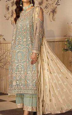 Chiffon Shirt, Chiffon Fabric, Chiffon Dress, Pakistani Dresses Online Shopping, Online Dress Shopping, Fashion Pants, Fashion Dresses, Fashion Clothes, Designer Party Wear Dresses